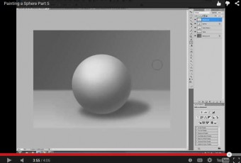 Painting a Sphere in Photoshop Part 5