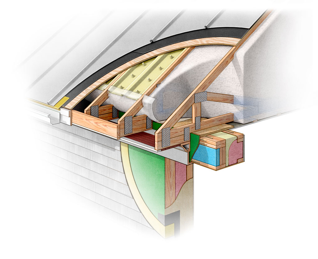 Passive House Roof John Hartman Illustration