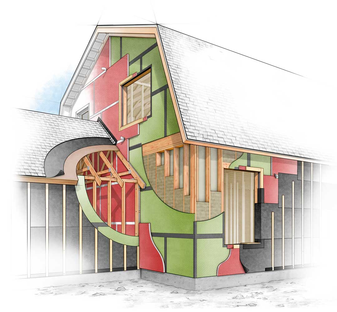 My latest fine homebuilding illustrations john hartman for Fine home building